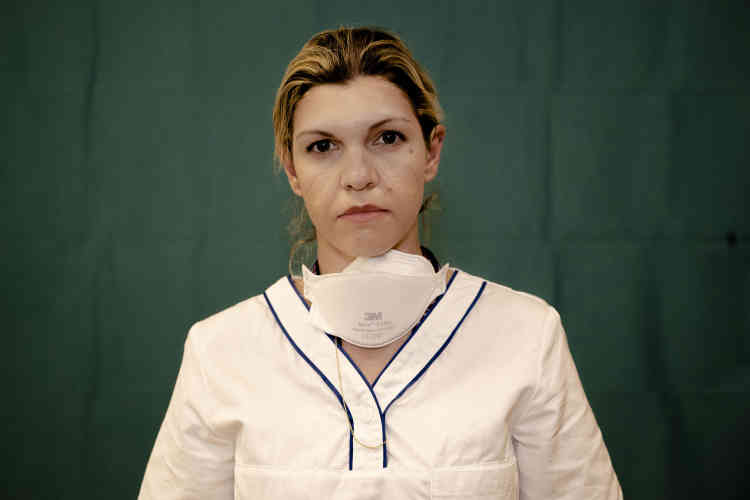 Daniela Turno, 34 ans, infirmière en soins intensifs à l'hôpital Humanitas Gavazzeni de Bergame (Italie).