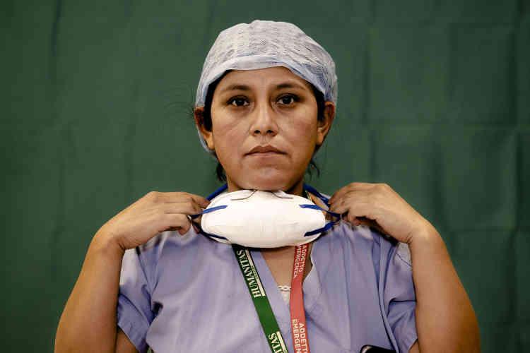 Anna Travezano, 39 ans, infirmière à l'hôpital Humanitas Gavazzeni de Bergame (Italie).