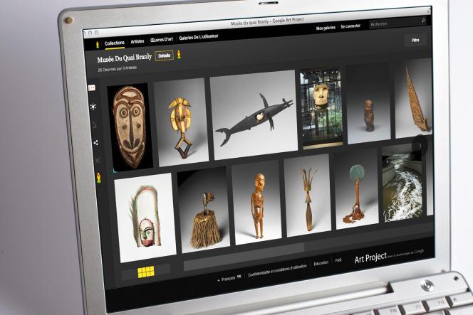 Les collections du musée du Quai Branly, à Paris, numérisées dans le cadre du Google Arts Project.