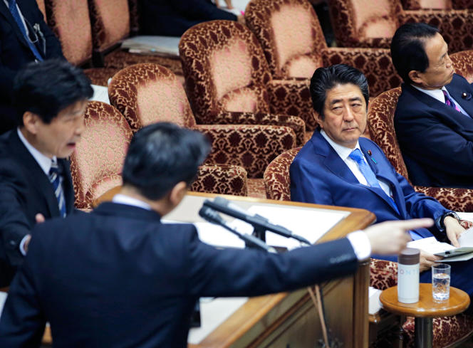 <p>Le premier ministre japonais Shinzo Abe, en mars 2017.</p>