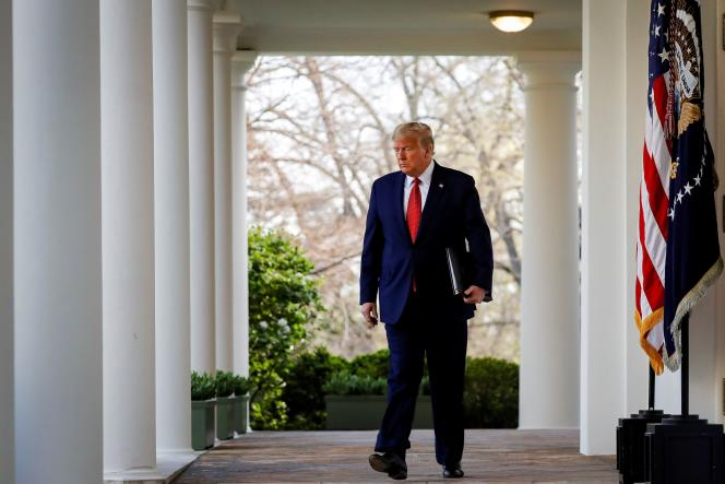 Donald Trump, le 29 mars à Washington.