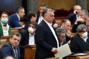 Le premier ministre hongrois Viktor Orban au Parlement, à Budapest, le 30 mars.