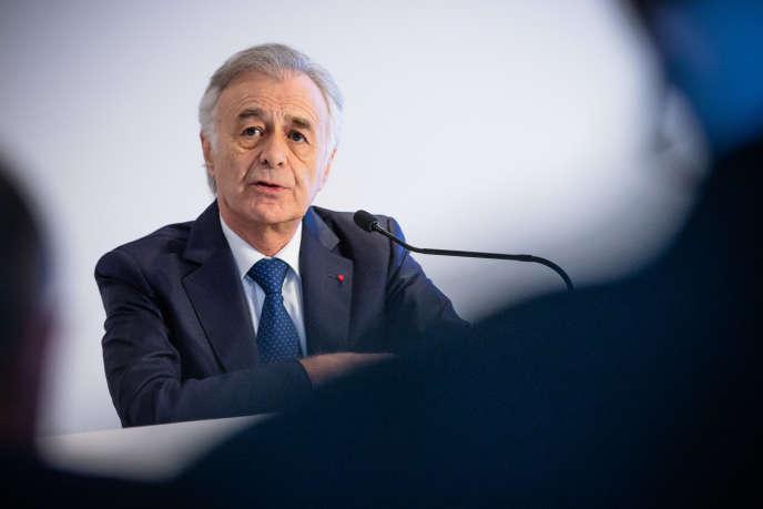 Le patron de Safran, Philippe Petitcolin, lors d'une conférence de presse, à Paris, le 27 février.