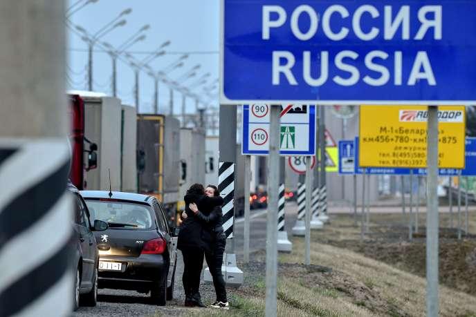 Avant la fermeture de la frontière avec la Russie, le 29 mars.