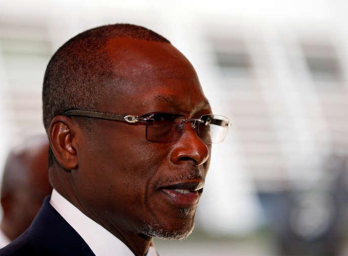 Patrice Talon, le président béninois, à Abuja, au Nigeria, en décembre 2017.