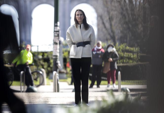 La cheffe du gouvernement belge, Sophie Wilmès, à Bruxelles, le 22 mars.