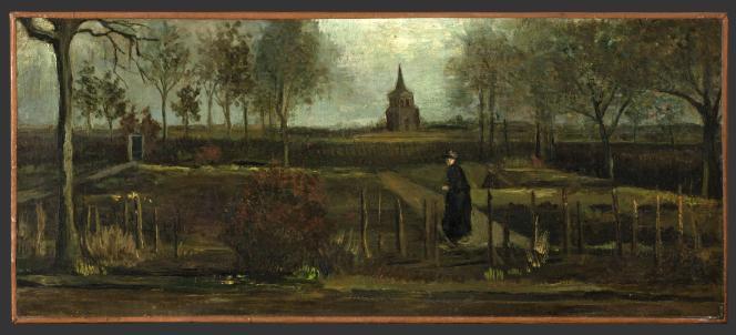 Le tableau de Vincent van Gogh «Le Jardin du presbytère de Nuenen au printemps», qui a été volé au Musée Singer Laren le 29 mars.