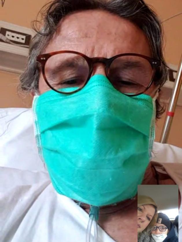 Egidio Locatelli, lors de son hospitalisation à Voghera (Lombardie).