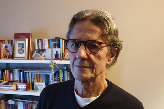 Egidio Locatelli, 68 ans, de retour chez lui à Codogno (Lombardie).