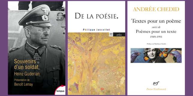 Heinz Guderian, Philippe Jaccottet, Andrée Chedid: la chronique «poches» de Mathias Enard