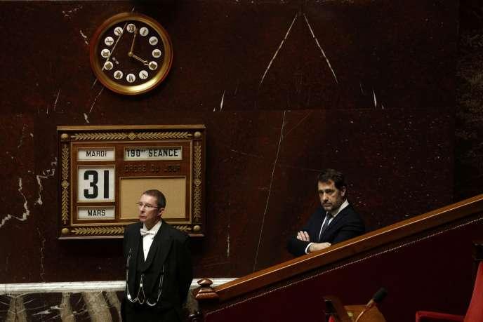 Le ministre de l'intérieur, Christophe Castaner, à l'Assemblée nationale, le 31mars.
