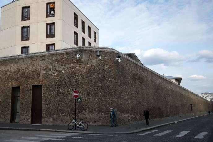 Vue de la prison de la Santé à Paris, le 19 mars.