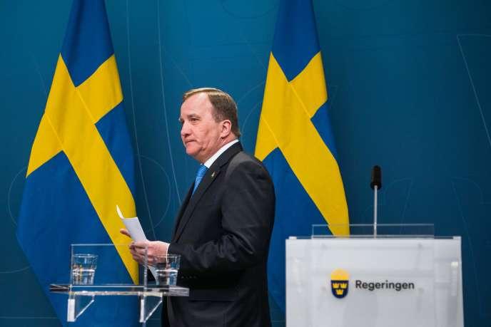 Le premier ministre suédois, Stefan Löfven, le 31 mars àStockholm.