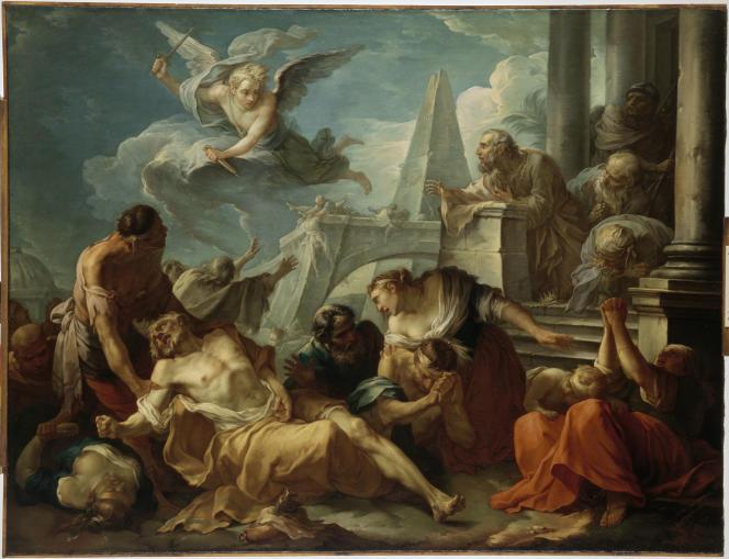 «David se résigne à la volonté du Seigneur, qui a frappé son royaume de la peste», de Joseph-Marie Vien l'Ainé (1743).