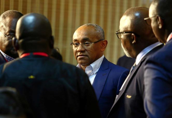 Le président de la Confédération africaine de football Ahmad Ahmad au Caire, en juin 2019.