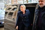 La présidente du Rassemblement national se rend à une réunion du parti sur l'épidémie deCovid-19, à Paris, le 12mars.