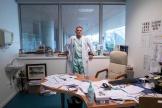 Philippe Juvin, chef des urgences, dans son bureau de l'hôpital Georges-Pompidou, à Paris, le 25 mars.