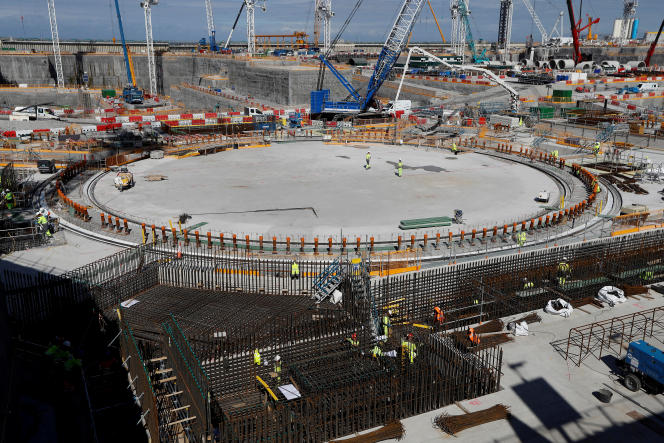 Le chantier d'Hinkley Point C, près de Bridgwater (sud-ouest du Royaume-Uni), en septembre 2019.