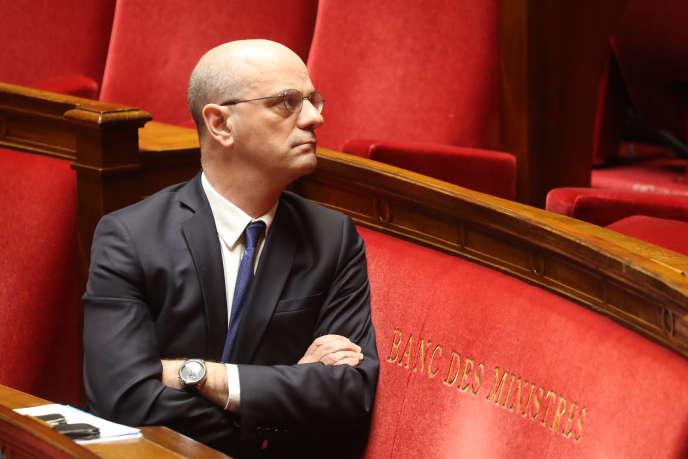 Le ministre de l'éducation, Jean-Michel Blanquer, à l'Assemblée nationale, le 19 mars.