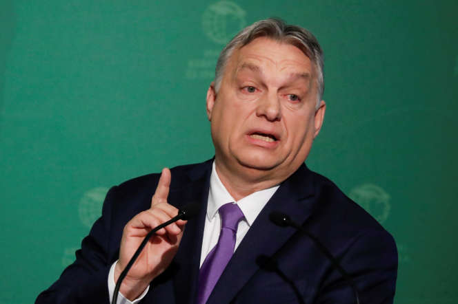 Le premier ministre hongrois, Viktor Orban,à Budapest, le 10 mars.