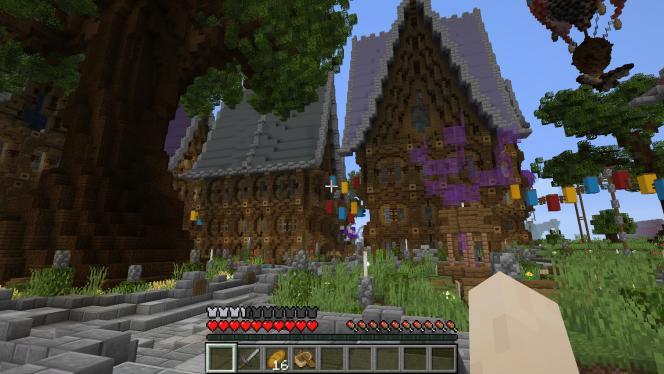 Le célèbre jeu« Minecraft» a fêté ses dix ans en mai 2019. Ici, le lieu d'accueil du serveur Politicraft, très populaire en France.