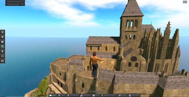 Sur« Second Life», on peut visiter le mont Saint-Michel, assez fidèlement reproduit par les internautes.