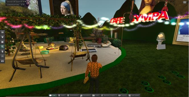 Le Café Sympa (certes un peu calme, tôt le matin) accueille une communauté de joueurs francophones de«Second Life».