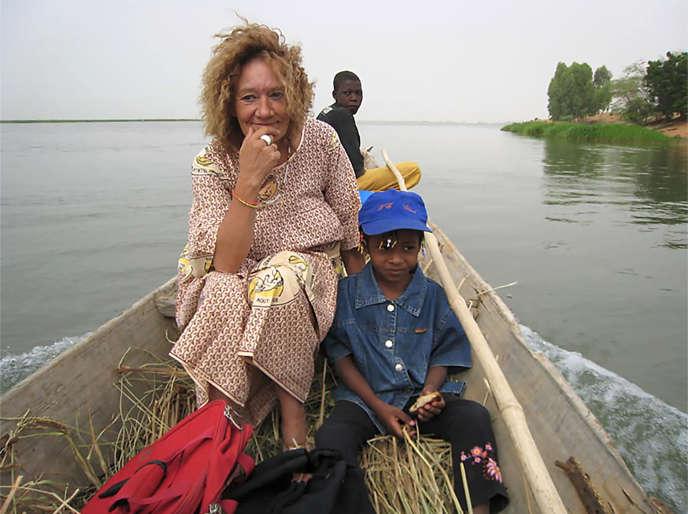 Une photo non datée et quelque part au Mali de Sophie Pétronin.