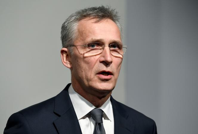 Jens Stoltenberg, le secrétaire général, àHambourg, en Allemagne, le 17 janvier.