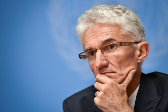 Mark Lowcock, secrétaire général adjoint aux affaires humanitaires de l'ONU, en septembre 2018, à Genève.