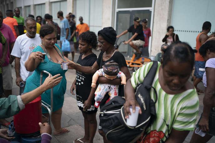 Des sans-abri à Rio de Janeiro, le 30 mars.