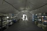 Un hôpital militaire a été installé dans le centre d'événementCenturyLink à Seattle, le mardi 31 mars.