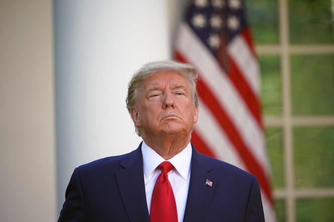 Donald Trump lors d'une conférence de presse sur le coronavirus, le 30 mars, à la Maison Blanche.