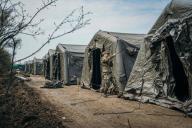 Un hôpital de campagne construit par l'armée près de Bucarest, le 20 mars.
