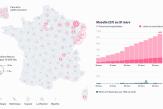 Coronavirus : visualisez le nombre de personnes hospitalisées département par département