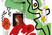 «Apocalypse 9», de Keith Haring, sérigraphie de 1988.