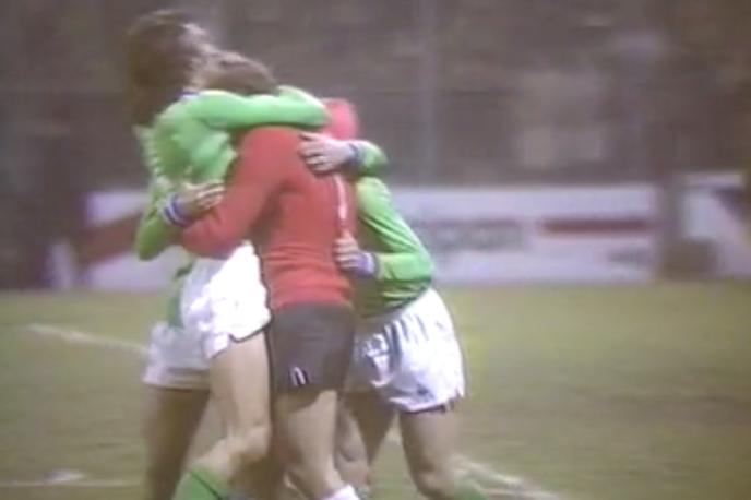 Le 17 mars 1976, l'AS Saint-Etienne remporte (3-0) le quart de finale retour de Coupe d'Europe des clubs champions contre le Dynamo Kiev.