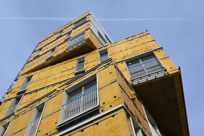 Des appartements en construction à Rennes (Ille-et-Vilaine), en novembre 2019.