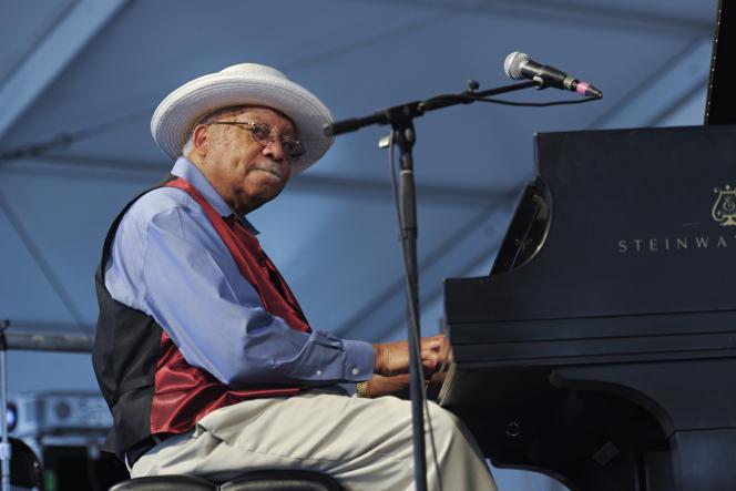 Ellis Marsalis, lors du Jazz & Heritage Festival, en mai 2011, à La Nouvelle-Orléans (Louisiane).