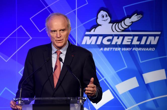 Florent Menegaux, PDG du groupe Michelin, le 10 février à Paris.