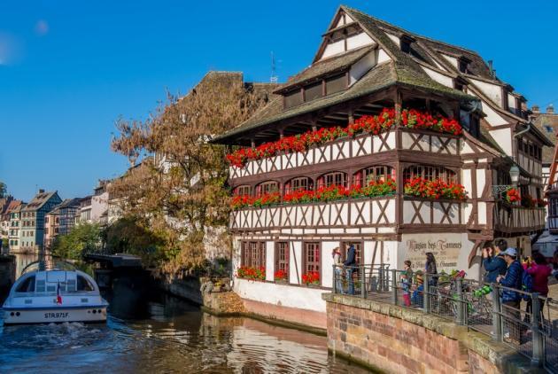 La maison des Tanneurs, à Strasbourg, dans le quartier de la Petite France.