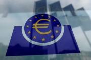 Le logo de la Banque centrale européenne, devant son siège, le 23 janvier à Francfort, en Allemagne.