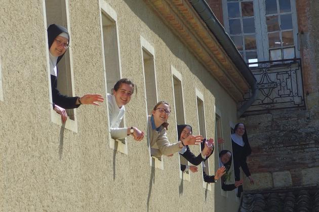 Les vingt-sept sœurs de l'abbaye de Boulaur (Gers) n'ont pas vu leur quotidien bouleversé par le confinement.