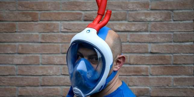 Coronavirus: comment est née l'idée d'adapter les masques de snorkeling Decathlon en Italie