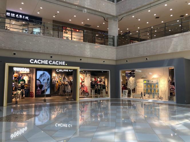 Un magasin Cache-Cache (enseigne exploitée par Beaumanoir), à Shanghaï, en 2019, avant qu'éclate l'épidémie due au coronavirus.