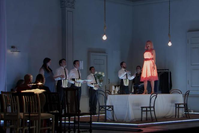 «Ariane à Naxos»,de Richard Strauss. Avec Lise Davidsen, Eric Cutler, Sabine Devieilhe, Angela Brower, et l'Orchestre de Paris, dirigé par Marc Albrecht.
