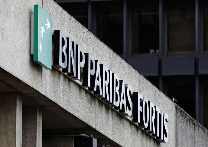 Le siège de BNP Paribas Fortis, filiale belge de BNP Paribas, à Bruxelles.
