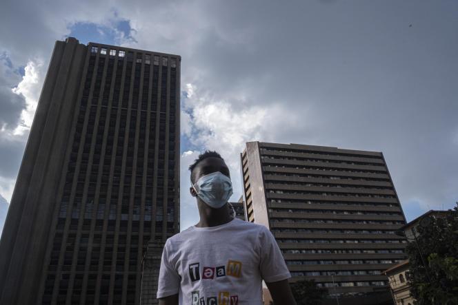Johannesburg, quartier des affaires, le 20 mars 2020.