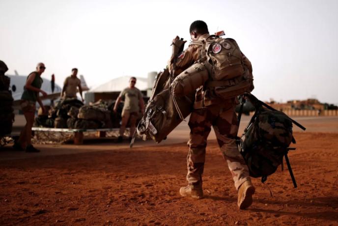 Des soldats français de l'opération« Barkhane» à Gao, au Mali, en août 2019.