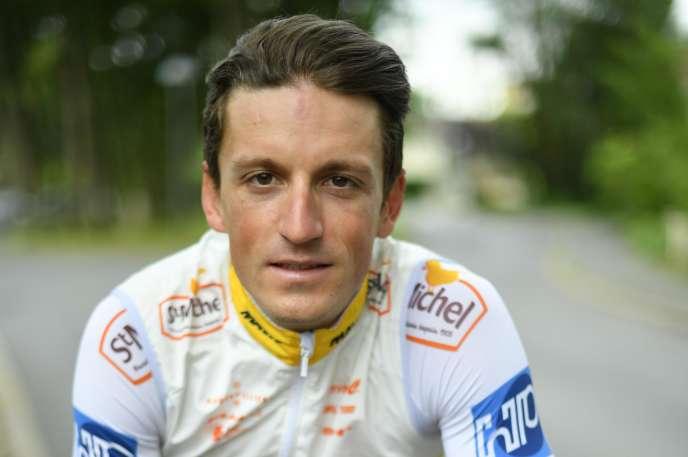 Kevin Le Cunff (ici en août 2018)a passé trois ans au sein de l'équipe Saint Michel-Auber 93, au niveau continental, la 2e division du cyclisme